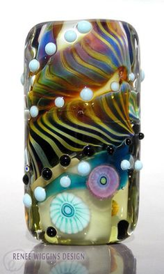 ON SALE Zelda Renee Wiggins Design Lampwork Glass Focal Bead. $30.00, via Etsy.