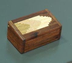 Inlaid walnut mini box by DougStowe on Etsy