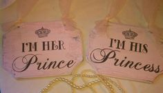 Wedding Signs Crystals & Pearls FAIRYTALE Themed Wedding Chair Signs PINK Disney Wedding, Cinderella Wedding Princess. $37.00, via Etsy.      love