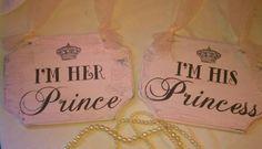 Wedding Signs Crystals & Pearls FAIRYTALE Themed Wedding Chair Signs PINK Disney Wedding, Cinderella Wedding Princess. $37.00, via Etsy.      love