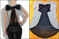 diy valentino bow back t-shirt