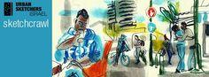 "Sketchcrawl . יציאת רישום קבוצתית  - מדרחוב נווה שאנן, דרום ת""א . Urban Sketchers Israel http://www.facebook.com/events/859978727357822"