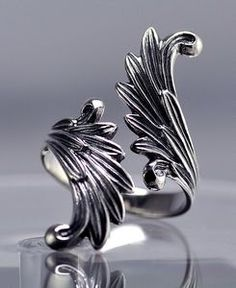 Celtic Moon Goddess Angel wings Fairy Ring Genuine Sterling silver Jewelry in Jewelry & Watches, Fashion Jewelry, Rings Silver Necklaces, Sterling Silver Jewelry, Silver Earrings, Gold Jewelry, Jewelry Rings, Jewelry Accessories, Jewelry Design, Jewellery Box, Jewellery Shops