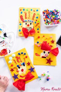 Fasching: basteln und spielen mit Kindern – 7 geniale Ideen Carnival: tinkering and playing with children – 7 brilliant ideas Daycare Crafts, Kids Crafts, Diy And Crafts, Winter Crafts For Kids, Diy For Kids, Carnival Crafts, Clown Crafts, Carnival Parties, Diy Games