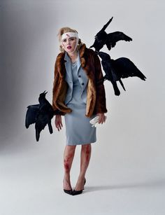 "Tim Walker | Rhea Thierstein | Role Playing | Scarlett Johansson as Tippi Hedren's character Melanie Daniels from ""The Birds"""