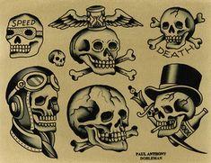 PAUL DOBLEMAN Continuing A Tradition: Runs through Apr 22 — ATAK Old Men With Tattoos, Small Tattoos For Guys, Traditional Tattoo Flash Art, Traditional Tattoo Design, Skull Tattoo Design, Tattoo Design Drawings, Create A Tattoo, Grim Reaper Tattoo, Tattoo Flash Sheet