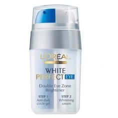 L'Oreal White Perfect Double Eye Zone Brightener (15ml.)) by Eye Cream. $23.40. Loreal White Perfect Double Eye Zone Brightener.. Please Note: We ship this item from Thailand (Thai Shop Online). Estimated Delivery time 2-3 weeks.. A groundbreaking dual-pump eye treatment Helps banish dark circles & spots around eye & cheek zones The blue pump is a rapid-dissolving gel that contains Peptido Complex Helps diminish blood waste & minimize iron pigments that darken under...