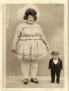 circus performers - at one point my goal was to gain weight and join the circus as the Fat Lady.