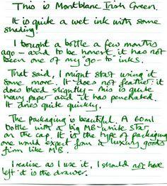 MONTBLANC Irish Green Ink 60ml