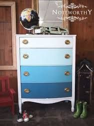 Image result for blue and grey ombre furniture diy