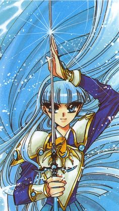 CLAMP, Magic Knight Rayearth, Magic Knight Rayearth Illustrations Collection, Umi Ryuzaki