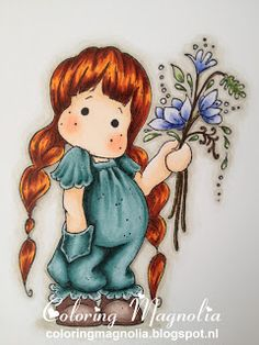 Coloring Magnolia Stamp 2013 With Love Collection - Tilda With Little Pocket
