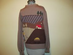 Vtg Bedford County Sports Wear Kitsch Ugly Sweater by ThenForNow, $12.50