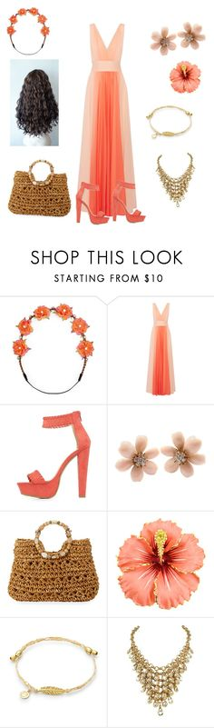 """""""Moana"""" by facummings ❤ liked on Polyvore featuring Carole, Halston Heritage, Charlotte Russe, Van Cleef & Arpels and Cappelli Straworld"""