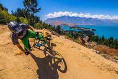 MTB, view and dust