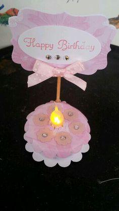 tealight birthday cake
