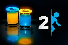 A Portal 2-themed drink that's as awesome to look at as it is to drink.