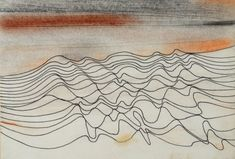 Seventeen Lines, 1982, pen, ink, oil on card Wilhelmina BArns-Graham (Could be a great headboard - Large canvas)