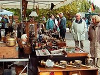 Homburg Flea Market (Flohmarkt) is typically held the 1st Saturday of each month all year.  However, check the website for date changes.  The market is much fuller in the summer months and there are many regulars.  Die hards will arrive before opening but you'll still find some fabulous items if you come later in the morning.  Be careful to choose parking wisely as many of us have received parking tickets.  | Drive:  Approx 30 minutes from Kaiserslautern | Address: Am Forum 5, 66424 Homburg