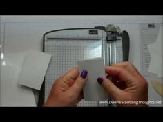 """Part 1 making the note cards & envelopes video , using the Hip Notes stamp set & Curly Label punch, Envelope punch board  . Make all (4) note cards and (4) envelopes from (2)  8 1/2"""" x 11"""" pieces of card stock ~ let me show you how ."""