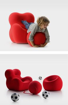 The UP Chair: Now For Kids! - The new UPJ is a mini replica of Gaetano Pesce's 1969 classic for B&B Italia
