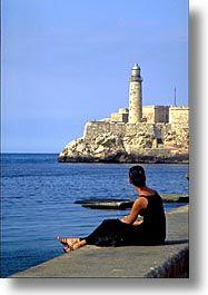Faro Castillo  del Morro, c. 1845 :-)  harbor of Havana, Cuba