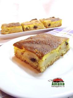 Prajitura cu mere Romanian Food, Romanian Recipes, French Toast, Breakfast, Ethnic Recipes, Morning Coffee