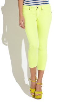 Get your Ne-On with Low-Rise Capris by Reuse