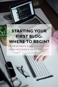I receive emails from newbie bloggers every single day. I love helping you guys out & as so many of you are currently getting ready to start your first blogs, I thought that it would be awesome to create an ultimate guide with all the tips + tricks that will get you on the right track. Let's go! (blogging tips, first blog, blogging begginer, first time blogger, blogging for profit, blogging for money)