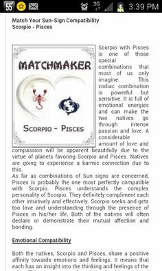 Pisces and Scorpio Pisces Compatibility, Aquarius Pisces Cusp, Pisces Sign, Scorpio Quotes, Pisces Woman, Scorpio Facts, Pisces Zodiac, Astrology Signs, Scorpio And Pisces Relationship