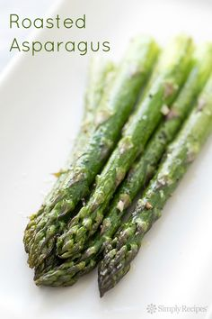 Roasted Asparagus on SimplyRecipes.com Quick, easy, paleo, gluten-free, and low carb! Perfect side for #Easter