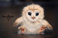 barn owl soft art doll by Flicker Dolls on deviantart.com. Super cute!