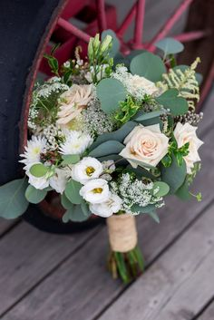 Beautiful bouquet with mix of varieties of flowers. Ivory Roses, Lisianthus, Astilbe, Eucalyptus, Queen Anne's Lace to name a few. Luxury Wedding, Rustic Wedding, Dream Wedding, Wedding Designs, Wedding Styles, Wedding Photos, Wedding Planner, Destination Wedding, Ivory Roses