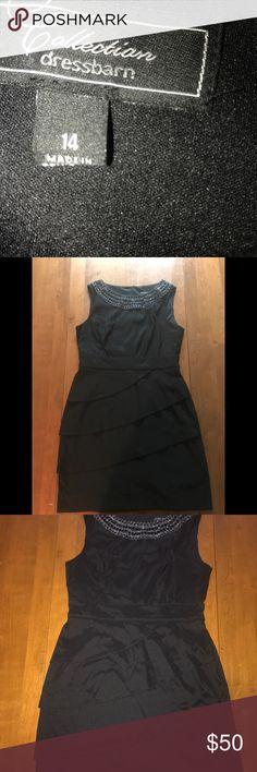 Little black dress Pretty little black dress with embellishments around the collar . Dress Barn Dresses