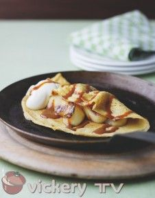 Caramel and Bramley Apple Pancakes Breakfast Time, Breakfast Recipes, Breakfast Pancakes, Phil Vickery, Home Meals, No Bake Desserts, Caramel, French Toast, Treats