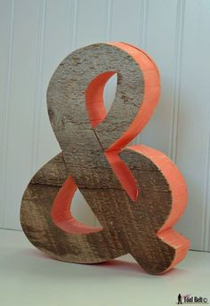 Chunky rustic ampersand 'and' symbol pattern Diy Projects To Build, Wood Projects, Craft Projects, Craft Ideas, Fall Projects, Decorating Ideas, Decor Ideas, Diy Letters, Flower Letters