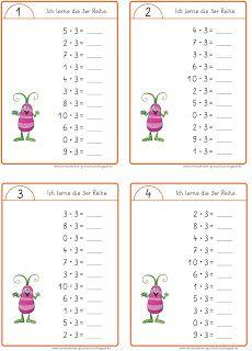 Lernstübchen: Minikartei zum Trainieren der Einmaleinsreihen