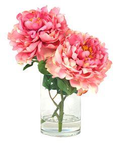 Love this Pink Peony Silk Flower Arrangement on #zulily! #zulilyfinds