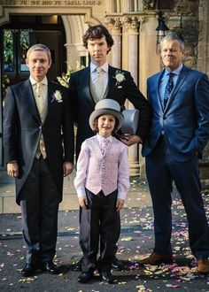 """John, Sherlock, Archie, and Lestrade- It was originally captioned """"Kids are not my division."""" << awww John and sherlock getting married ; Sherlock Holmes Bbc, Sherlock Fandom, Sherlock John, Sherlock Season, Sherlock Quotes, Sherlock Series, Watson Sherlock, Jim Moriarty, Johnlock"""