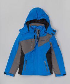 Another great find on #zulily! Blue System Soft-Shell Jacket - Boys by Weatherproof #zulilyfinds