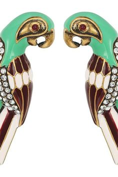 Marc Jacobs Charms Tropical Parrot Studs Big Earrings (Green Multi) Earring - Marc Jacobs, Charms Tropical Parrot Studs Big Earrings, M0010468-301, Jewelry Earring General, Earring, Earring, Jewelry, Gift, - Street Fashion And Style Ideas