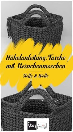 Bag with star mesh - crochet pattern - DIY-Family- Tasche mit Sternchenmaschen – Häkelanleitung – DIY-Family- – knithat.decor… Bag with star mesh – crochet pattern – DIY-Family- – knithat. Easy Knitting Projects, Knitting For Beginners, Sewing Projects, Knitting Ideas, Learn How To Knit, How To Start Knitting, Knitting Patterns, Crochet Patterns, Sewing Patterns