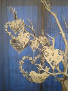 Job Lot 10 wedding Vintage Hanging Hearts