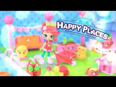 Unbox Daily:  Shopkins Happy Places Rosie Bloom & Puppy Patio Garden Play Set Review - 4K - YouTube