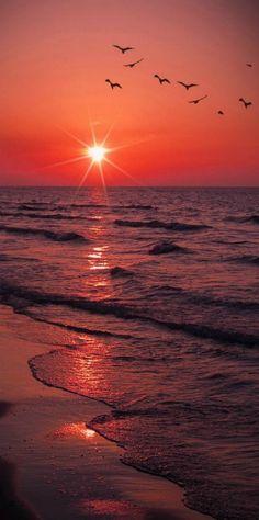 Caspian Red Sea Sunset   by Peyman Az