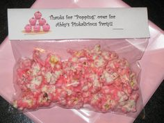 Pinkalicious Party favors for my girl...stole the recipe but came up with the wording. :)
