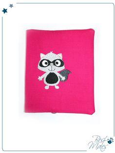 Buch-& Hefthülle - HÜLLE *Waschbär* XL - ein Designerstück von bestmates bei DaWanda