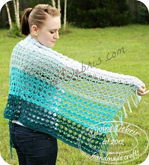 The Mae Shawl/ Wrap crochet pattern by DivineDebris.com. $3.99