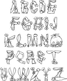 Free Alphabet Coloring Pages, Choose From More Than 50 Fun Alphabets to Print.