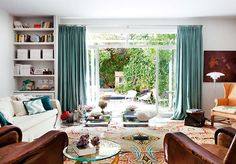 Serene colors are a good way to compliment a white room and neutrals // Living Rooms